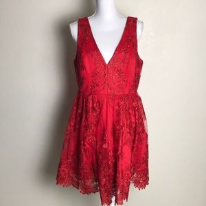 Red Lace dress size 13